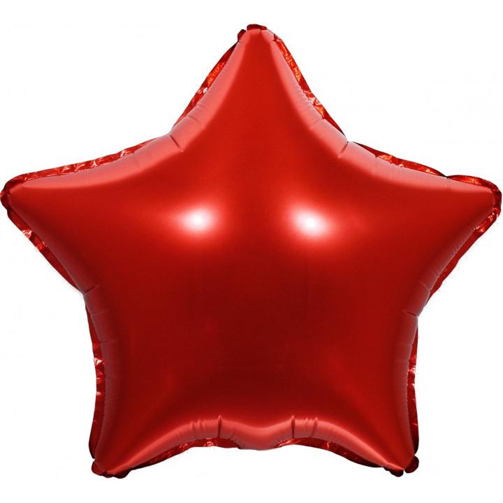 Звезда красная фольга