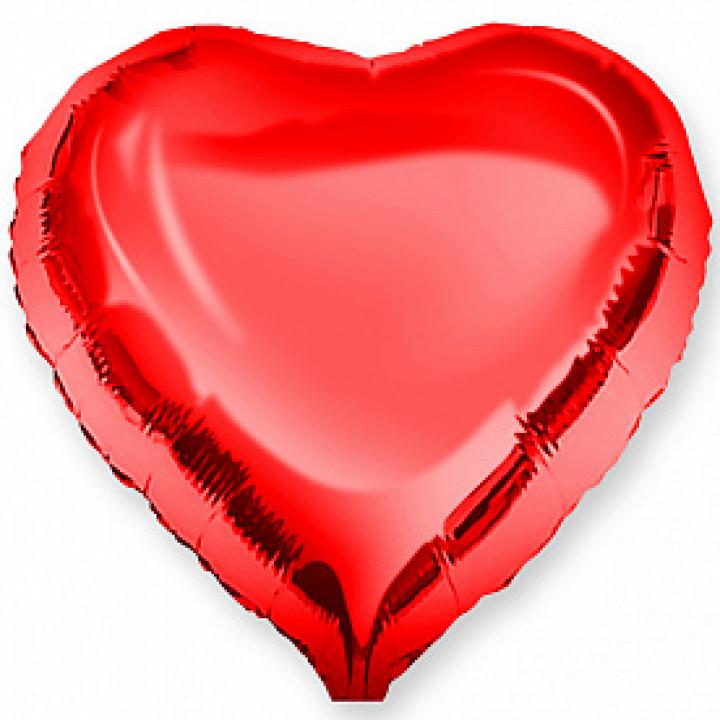 Фольгированный шар сердце Falali Красный