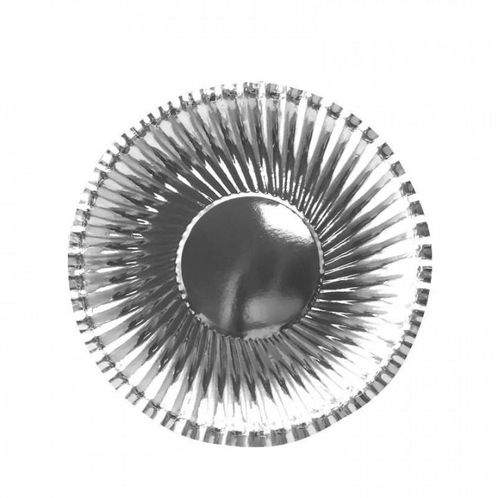 Тарелки фактурные  Серебряные 18 см