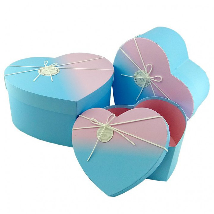 Коробка Градиент Розово-голубой