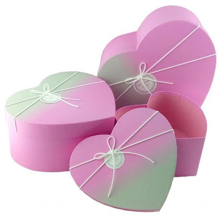 Коробка Градиент Розовый персик