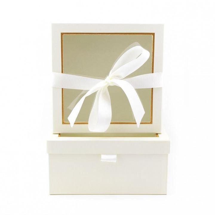 Коробка Лакшери.Квадрат Белый