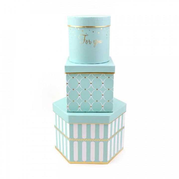 Коробка Трио Голубой