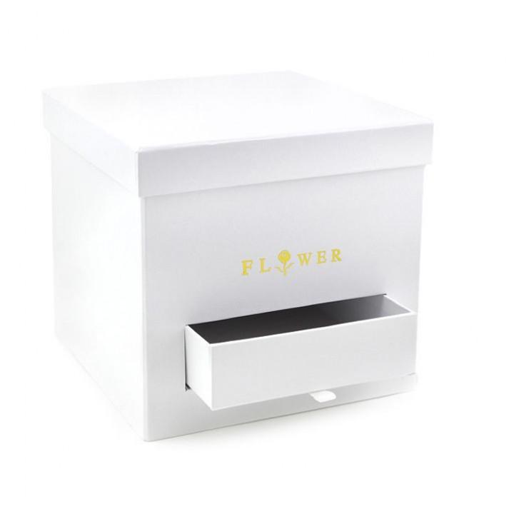 Коробка Открытие Белый куб с ящиком