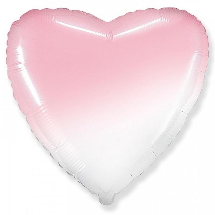 Сердце Бело-Розовый градиент / FM