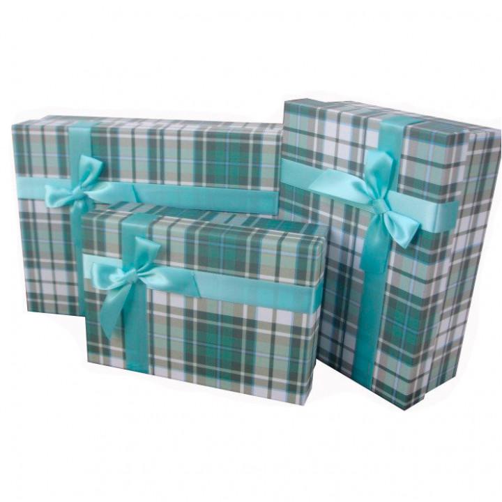 Коробка Строгий Зеленый прямоугольник 22,5*15*7,5 см
