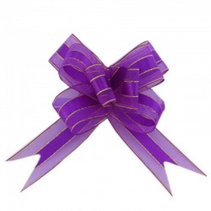 Бант-бабочка С золотой полоской 30мм Фиолетовый