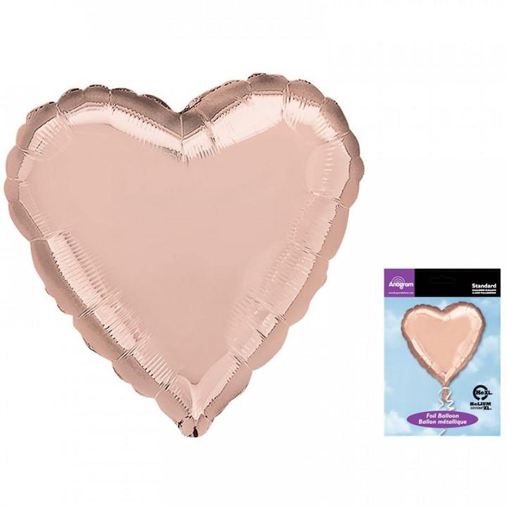 Сердце Роза Голд в упаковке