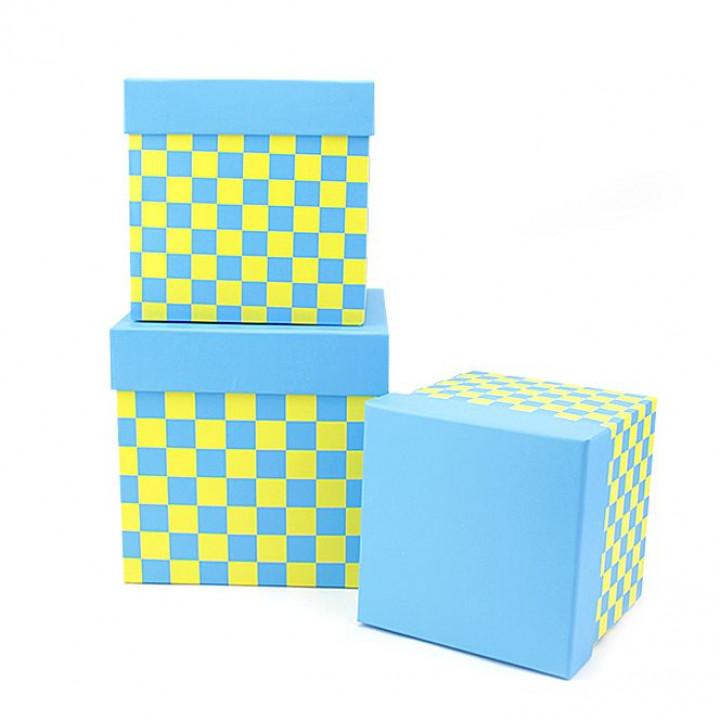 Коробка Веселые шахматы Голубой  квадрат