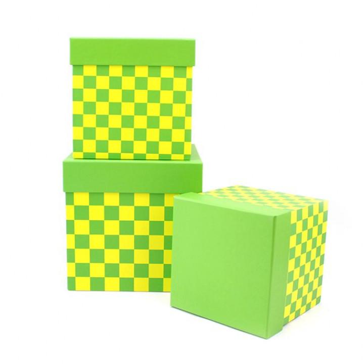 Коробка Веселые шахматы Зеленый  квадрат