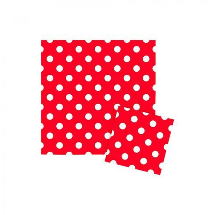 Салфетки Горошек Красный 12 шт