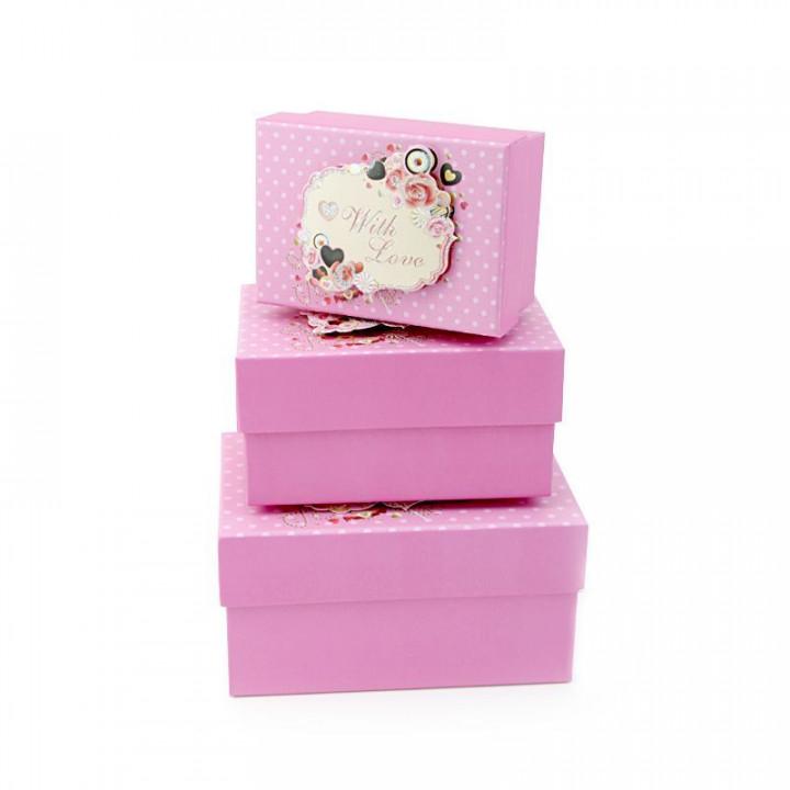 Коробка Любовь и шоколад Розовый