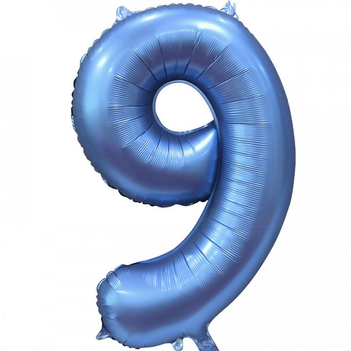 Шар (34''/86 см) Цифра, 9, Синий