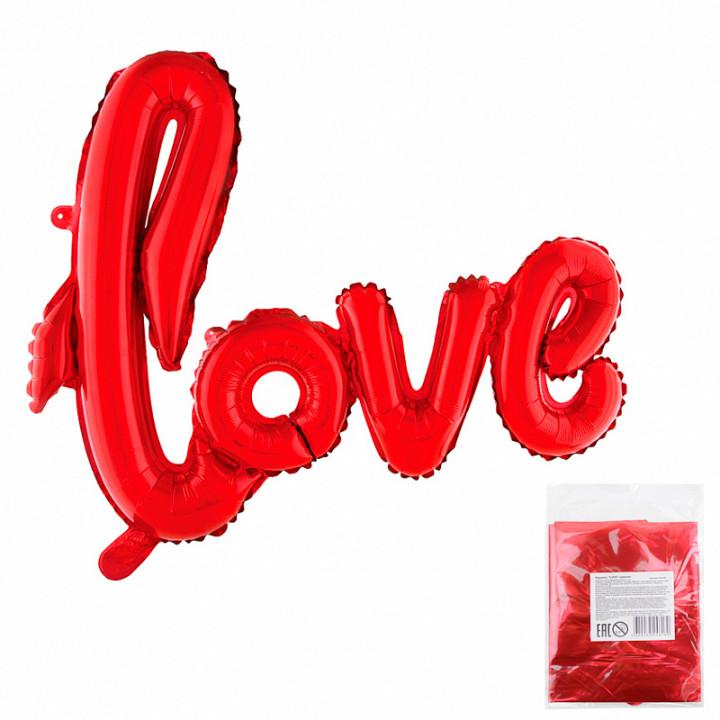 Надпись LOVE красная в упаковке
