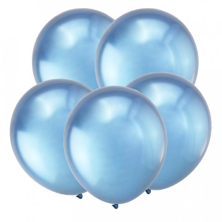 Т Метал 12 Зеркальные шары, Синий