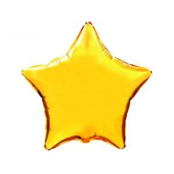 Звезда Металлик золотой 5 шт