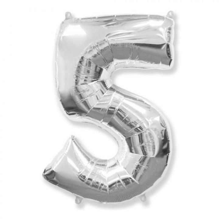 FM Фигура Цифра 5 серебро 36