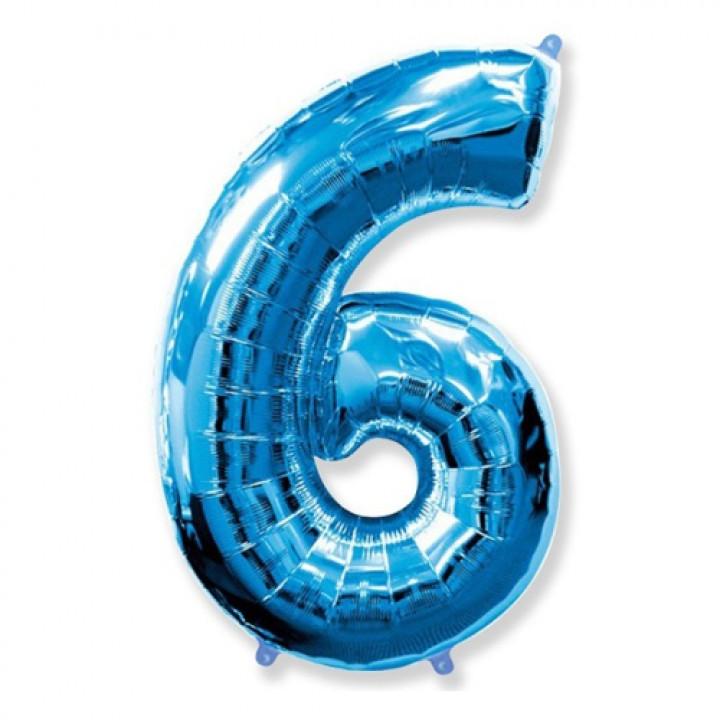 FM Фигура Цифра 6 голубая 36