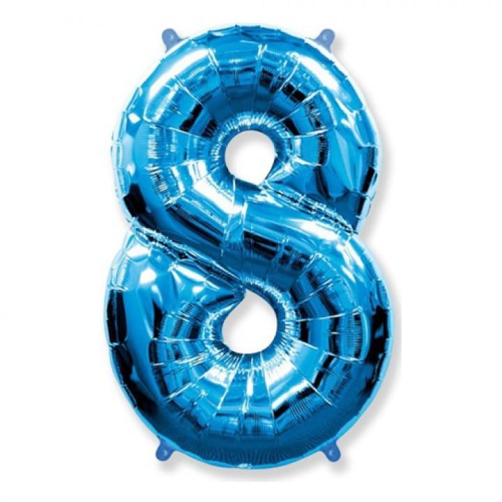 FM Фигура Цифра 8 голубая 36
